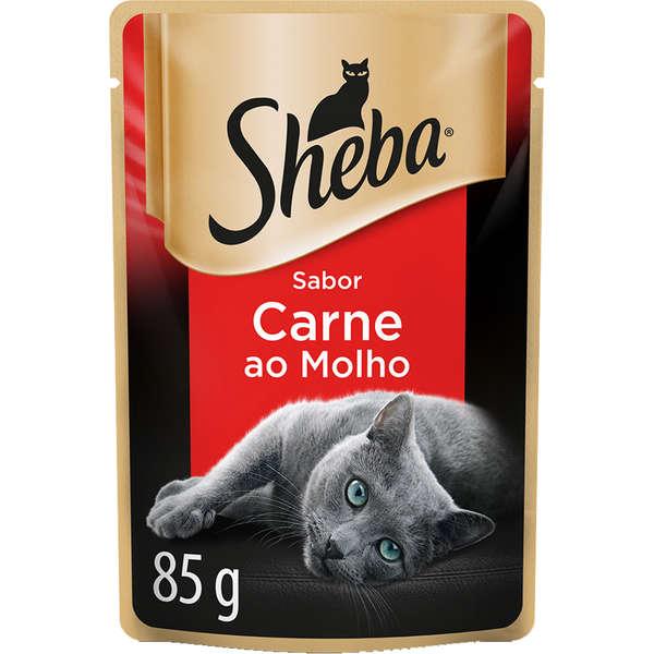 Sheba Sachê Gato Adulto Carne