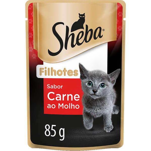 Sheba Sachê Gato Filhote Carne
