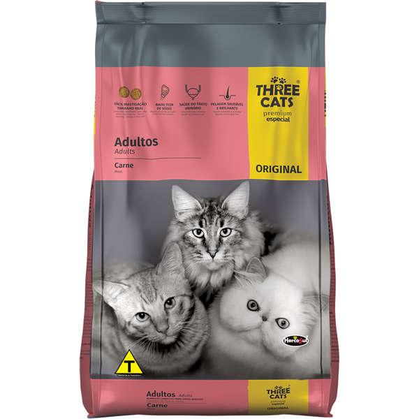 Three Cats Original Adultos Carne