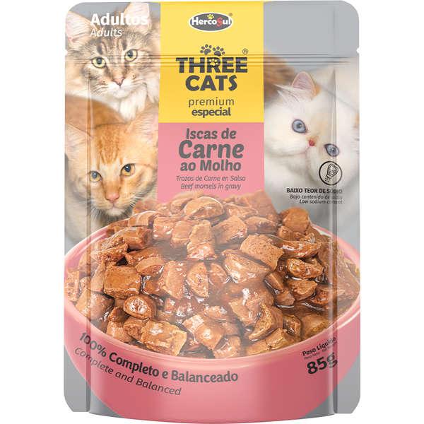 Three Cats Sachê Adulto Carne