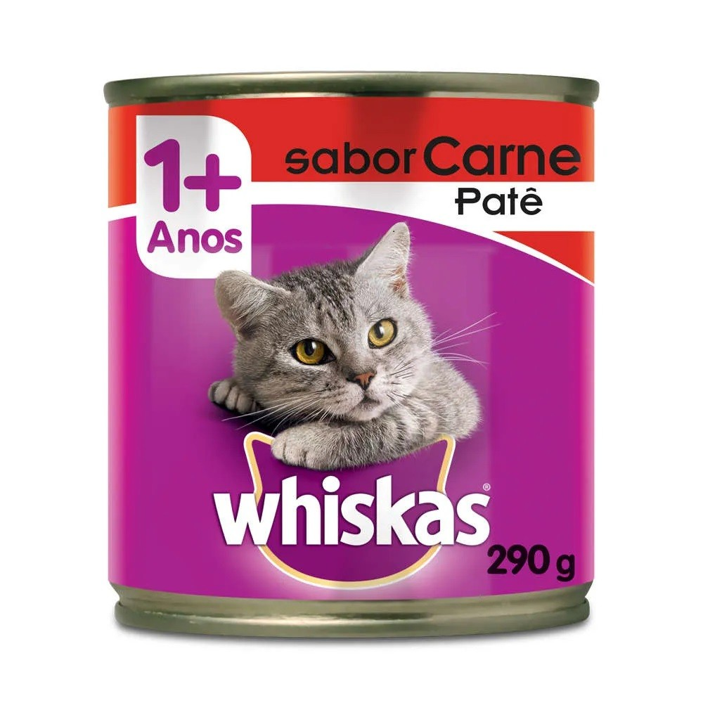 Whiskas Lata Patê de Carne