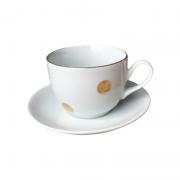 Xícara de chá Bolas Douradas