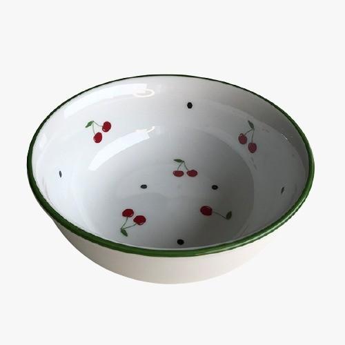 Kit Xicará de Chá e Prato de Sobremesa As Cerejas com pequenos defeitos
