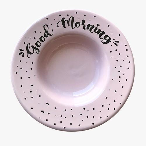Pratinho de boas-vindas Good Morning Rosa