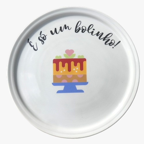 Prato de bolo É só um bolinho