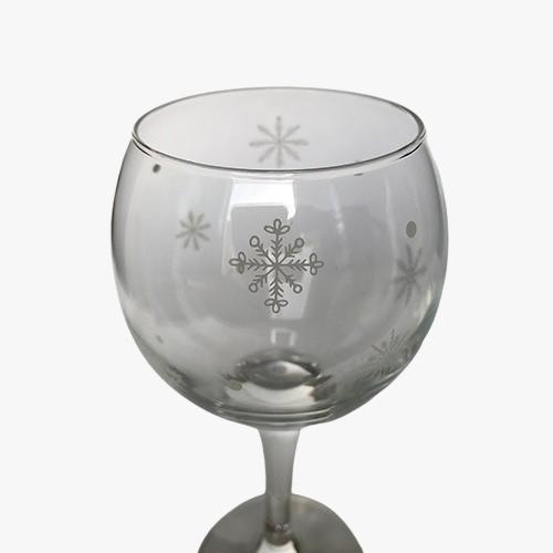 Taça para vinho Flocos de Neve