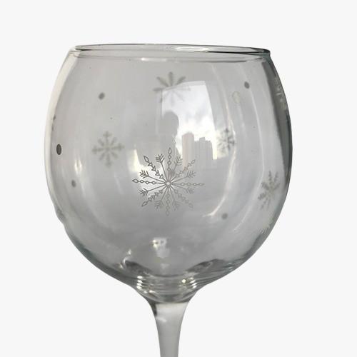 Taça para Vinho tinto Flocos de Neve