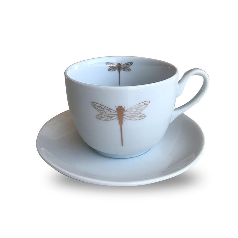 Xícara de chá Libélulas