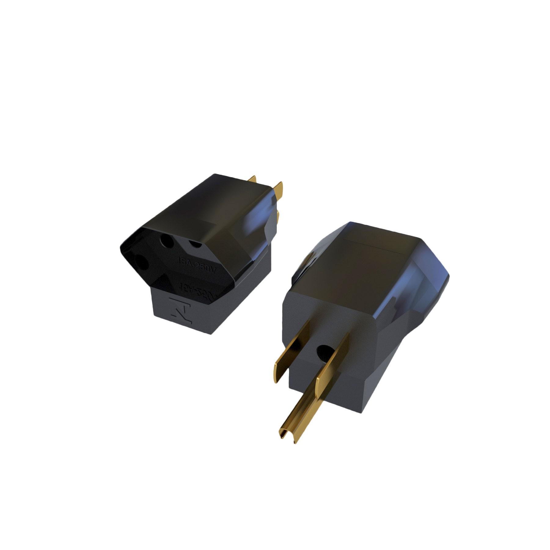 Adaptador Nema 5-15P - 15A para NBR14136 - 10A - 120/250V 2P+T