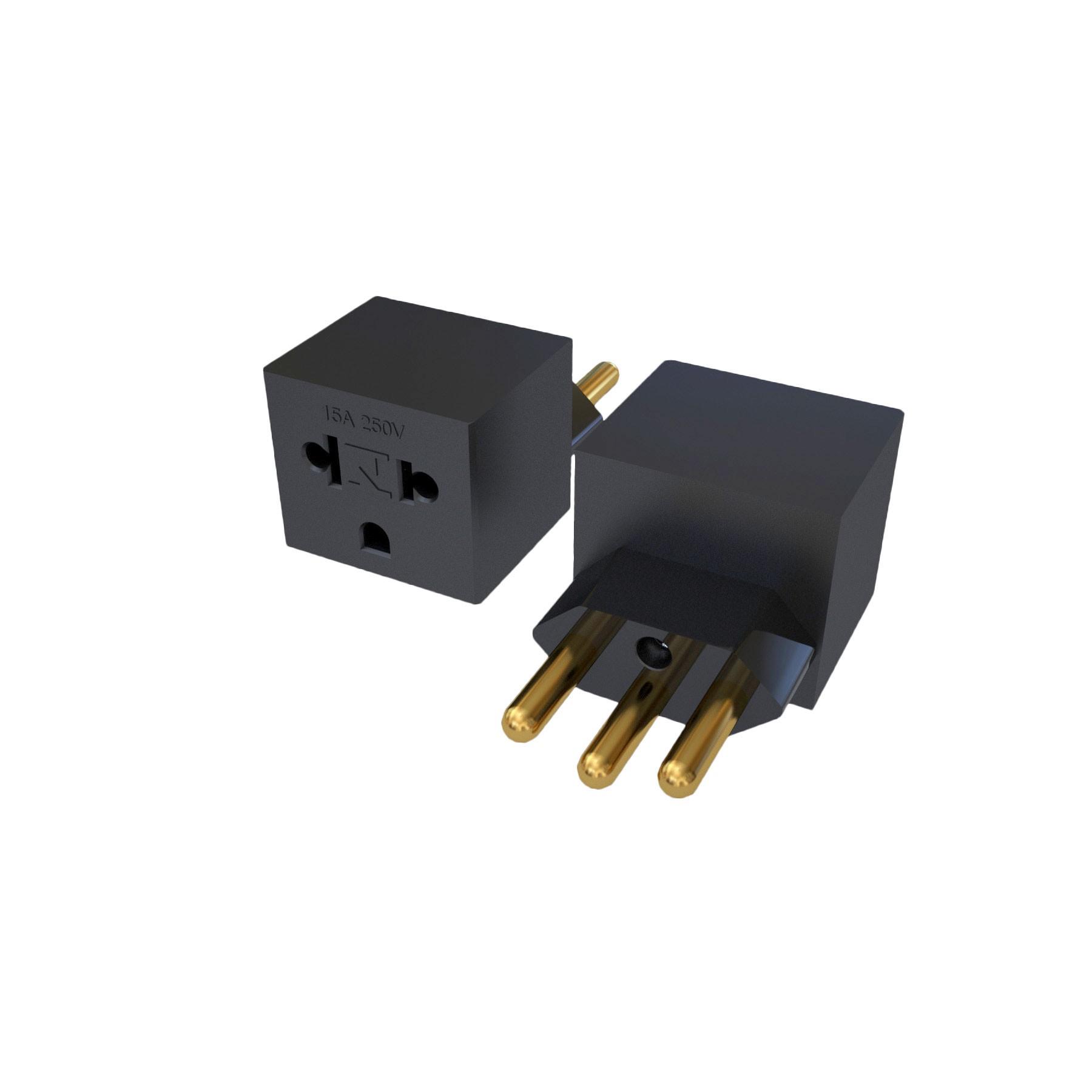 Adaptador NBR14136 - 20A para Nema 5-15R - 15A - 120/250V 2P+T