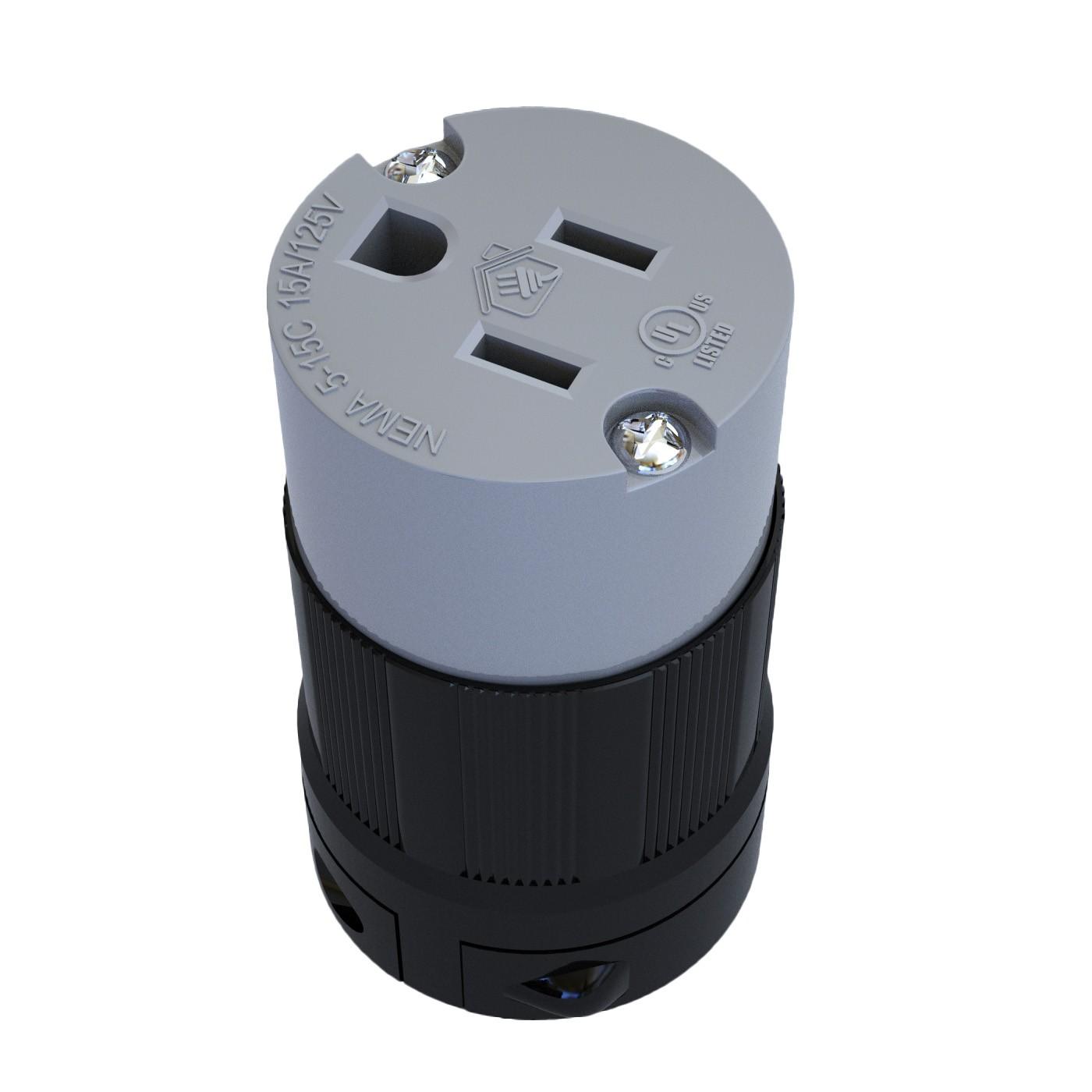 Conector Nema 5-15C - 15A - 125V 2P+T