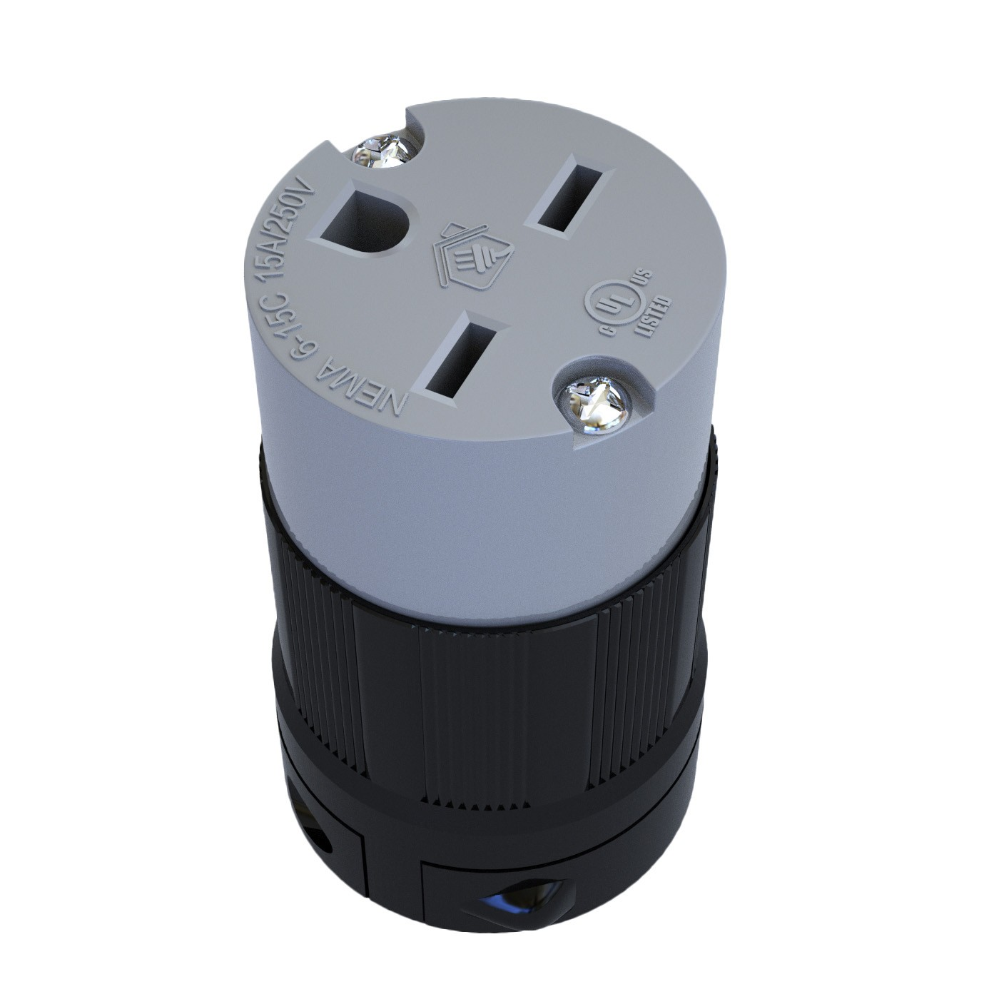 Conector Nema 6-15C - 15A - 250V 2P+T