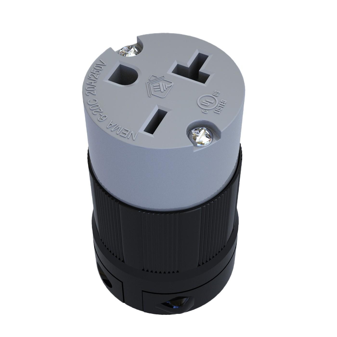 Conector Nema 6-20C - 20A - 250V 2P+T