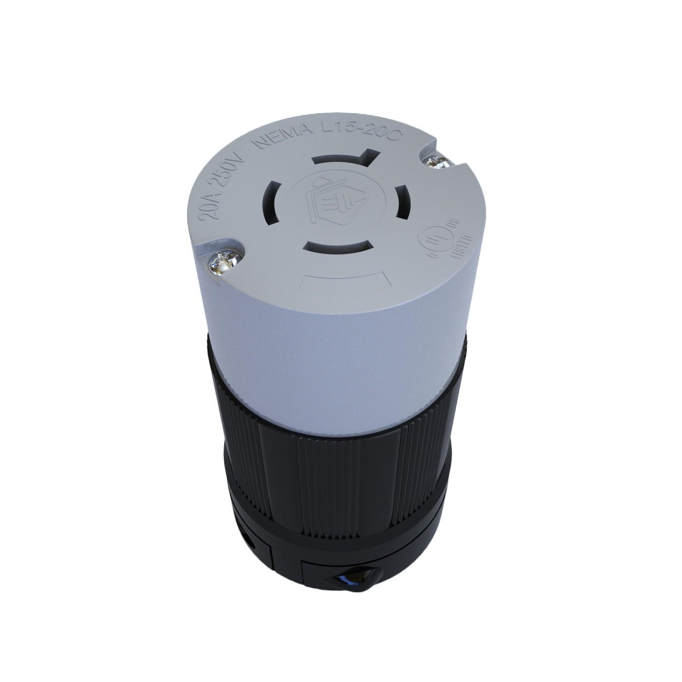 Conector Nema L15-20C - 20A - 250V 3P+T