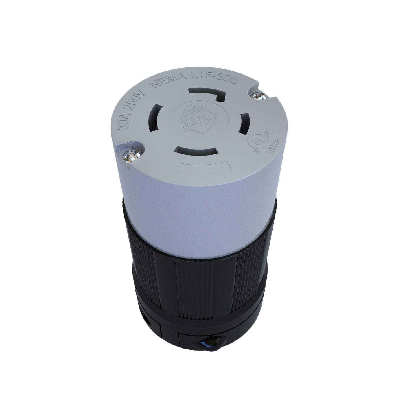 Conector Nema L15-30C - 30A - 250V 3P+T