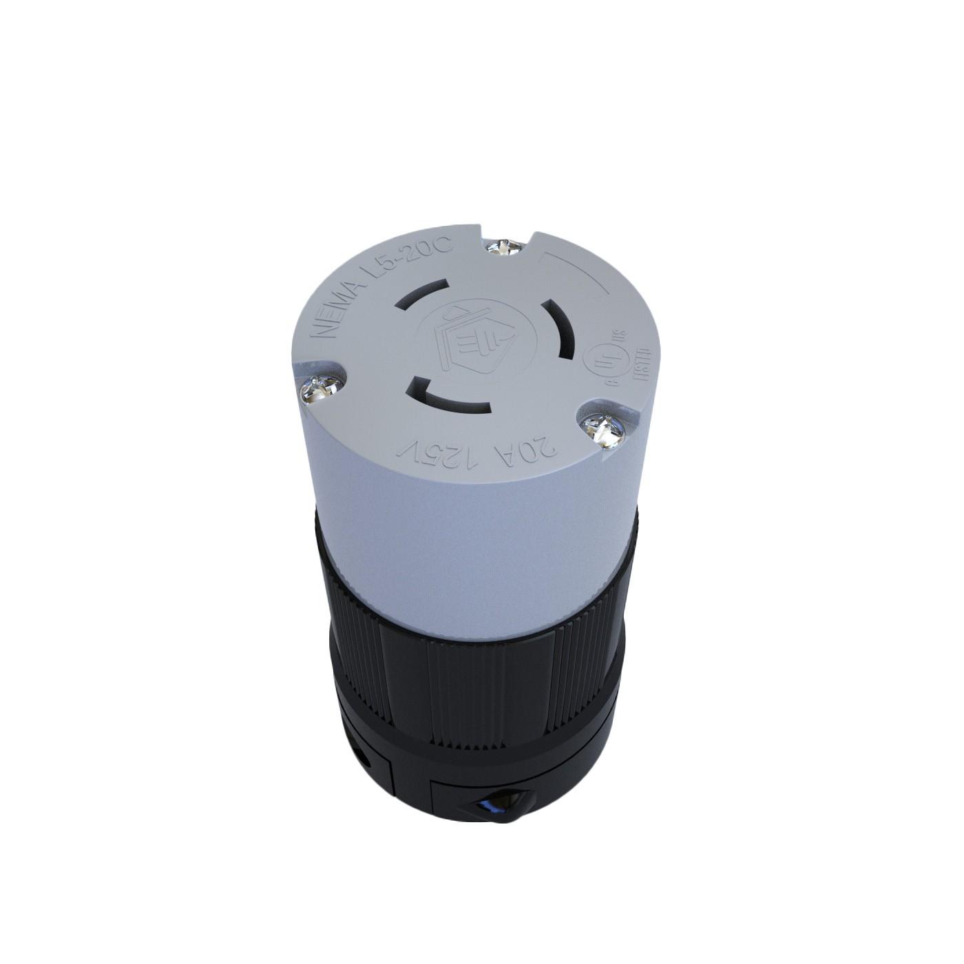 Conector Nema L5-15C - 15A - 125V 2P+T