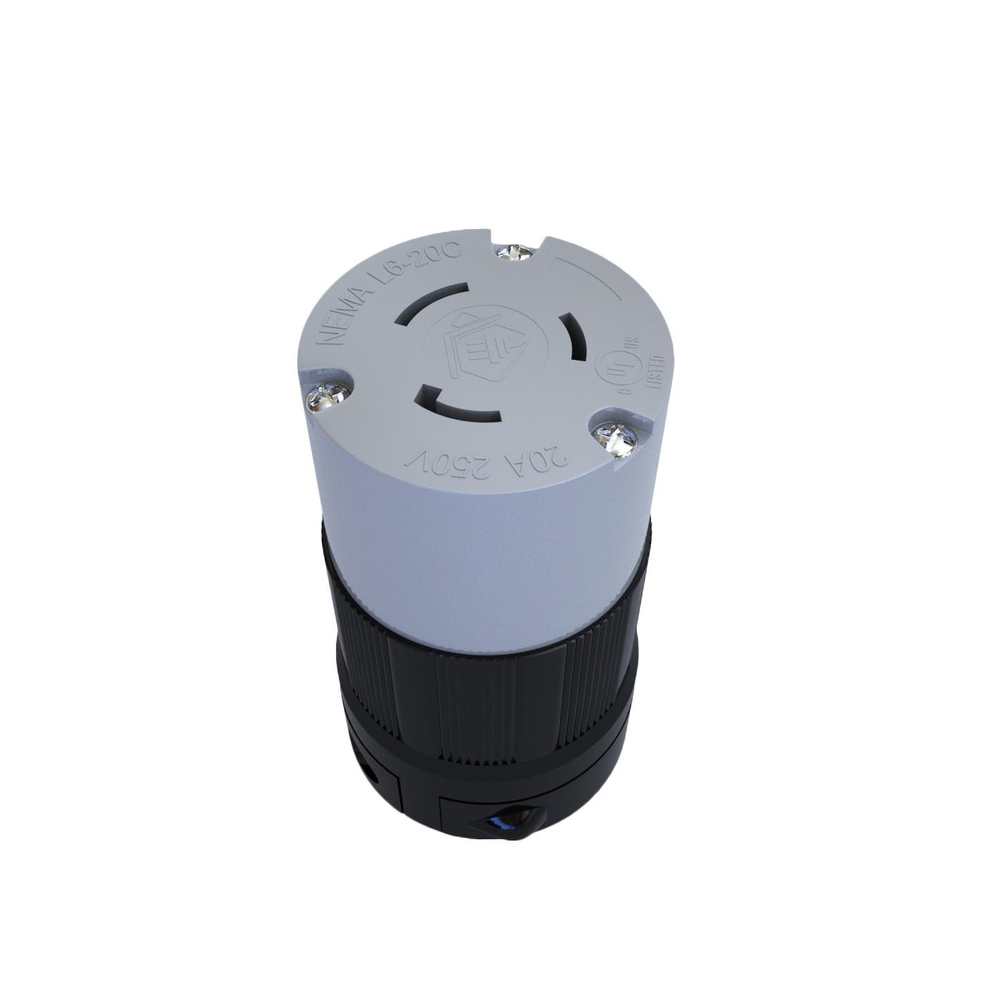 Conector Nema L6-20C - 20A - 250V 2P+T