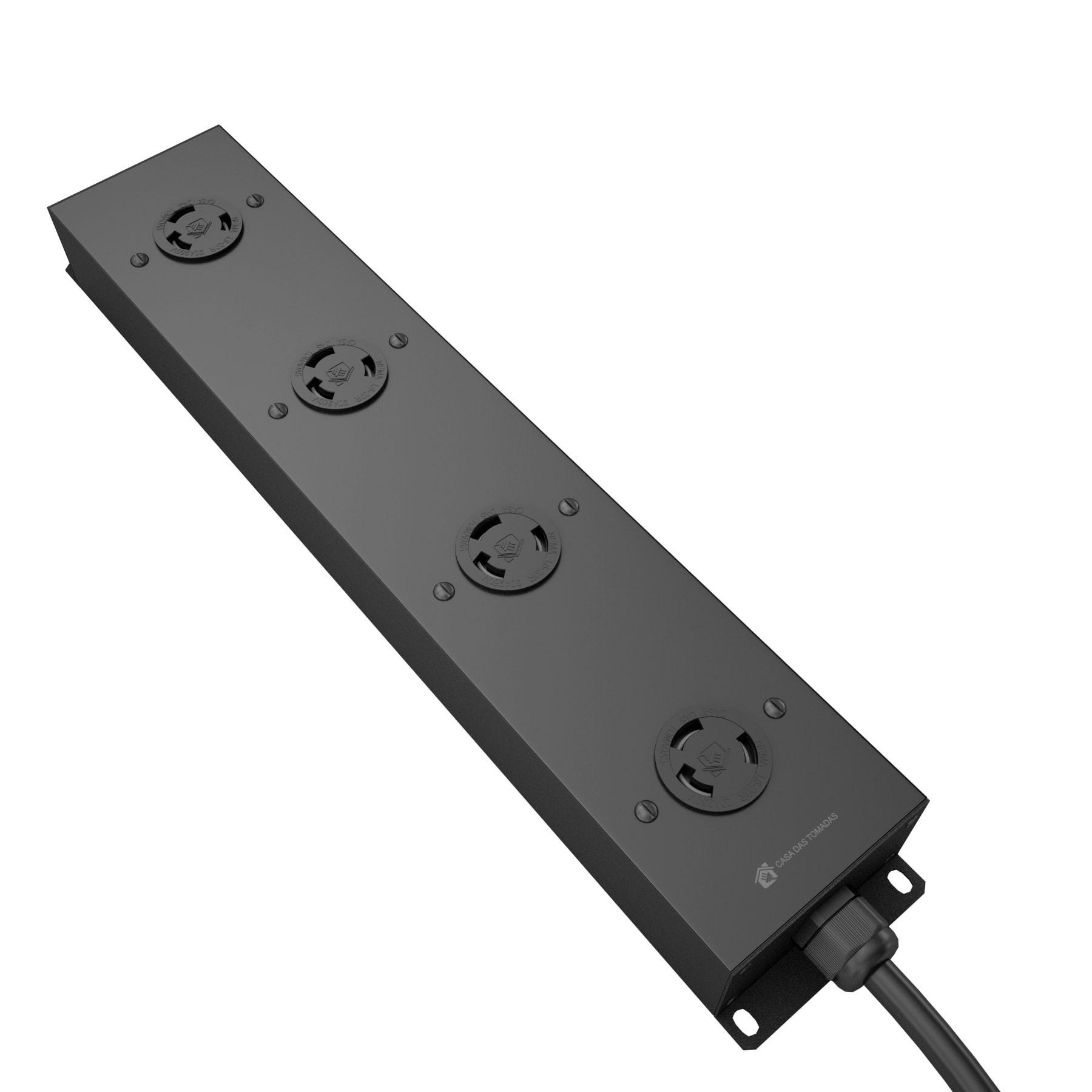 PDU 36A com 4 tomadas L6-20R padrão Nema Lock 20A - Sem plugue
