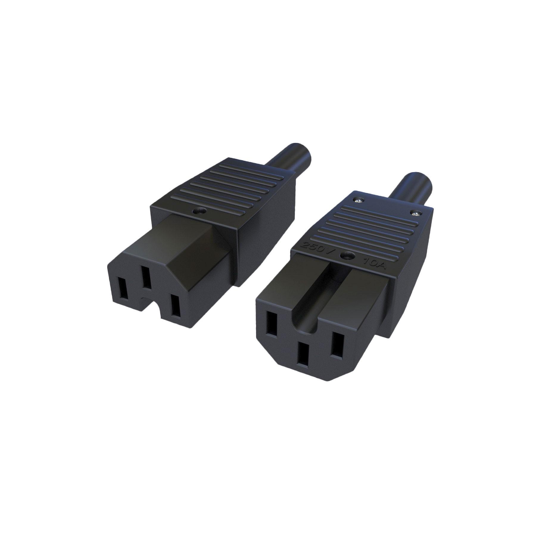 Plugue Fêmea IEC320 C15 - 10A - 250V 2P+T