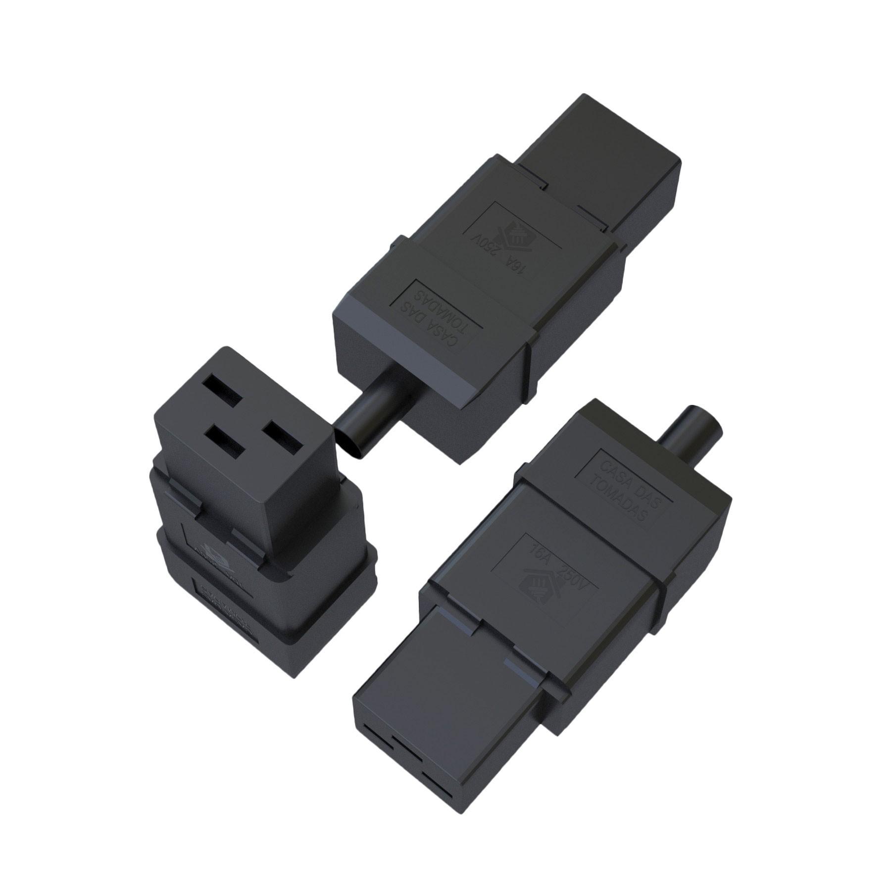 Plugue Fêmea IEC320 C19 - 16A - 250V 2P+T