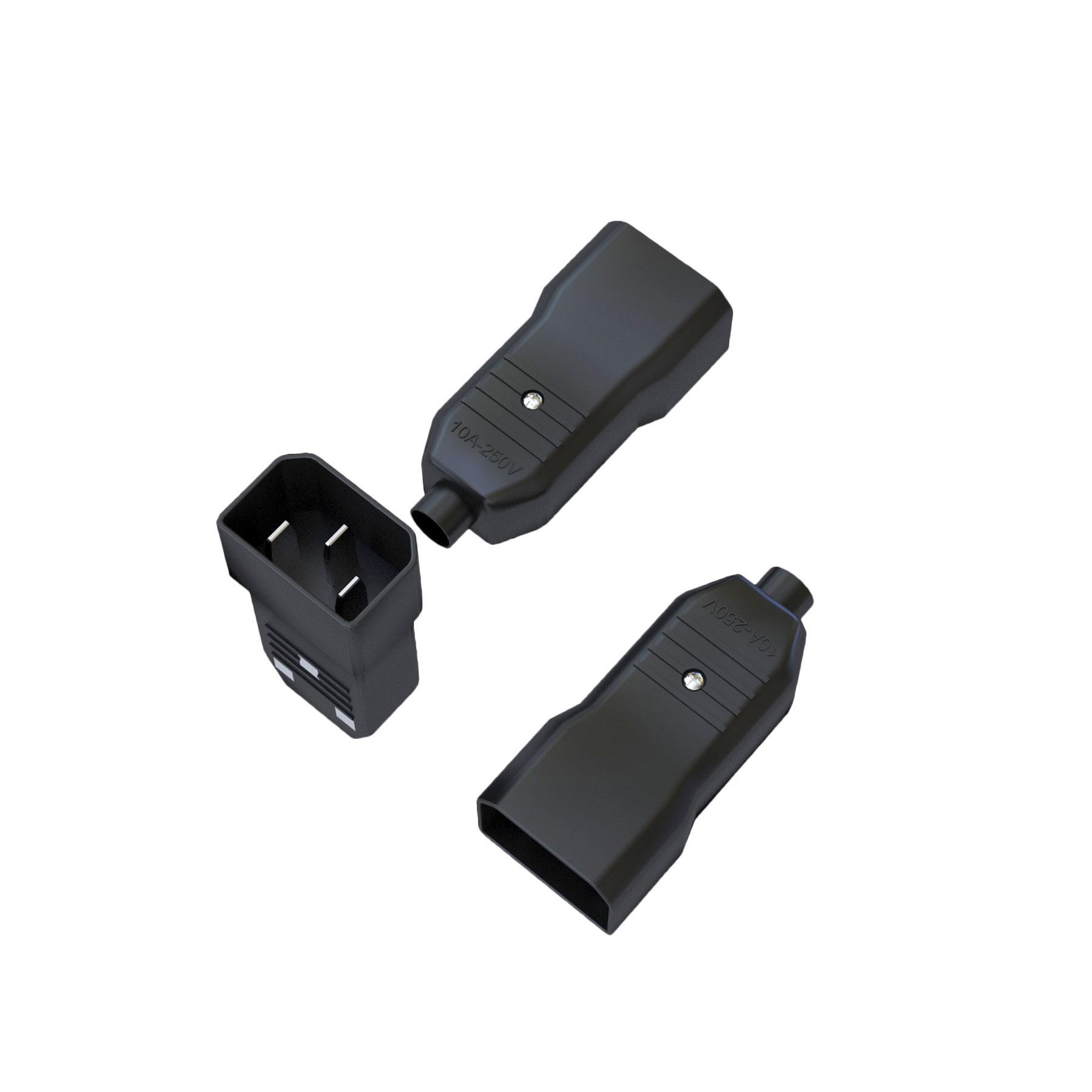 Plugue Macho IEC320 C14 - 10A - 250V 2P+T