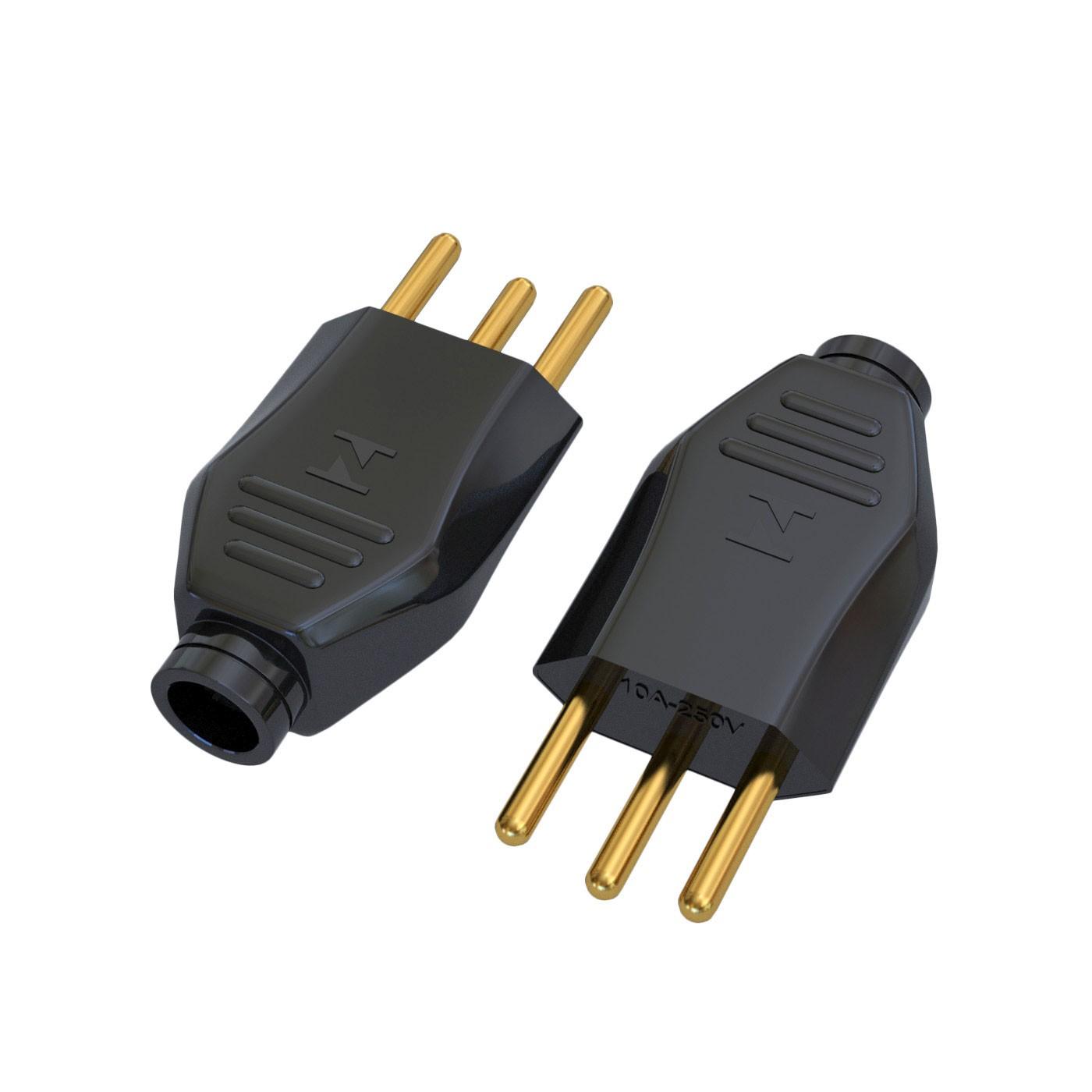 Plugue Macho NBR14136 - 10A - 250V 2P+T