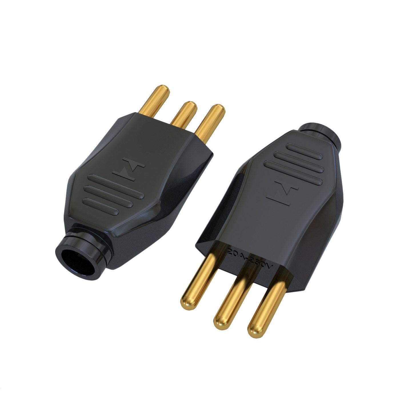 Plugue Macho NBR14136 - 20A - 250V 2P+T