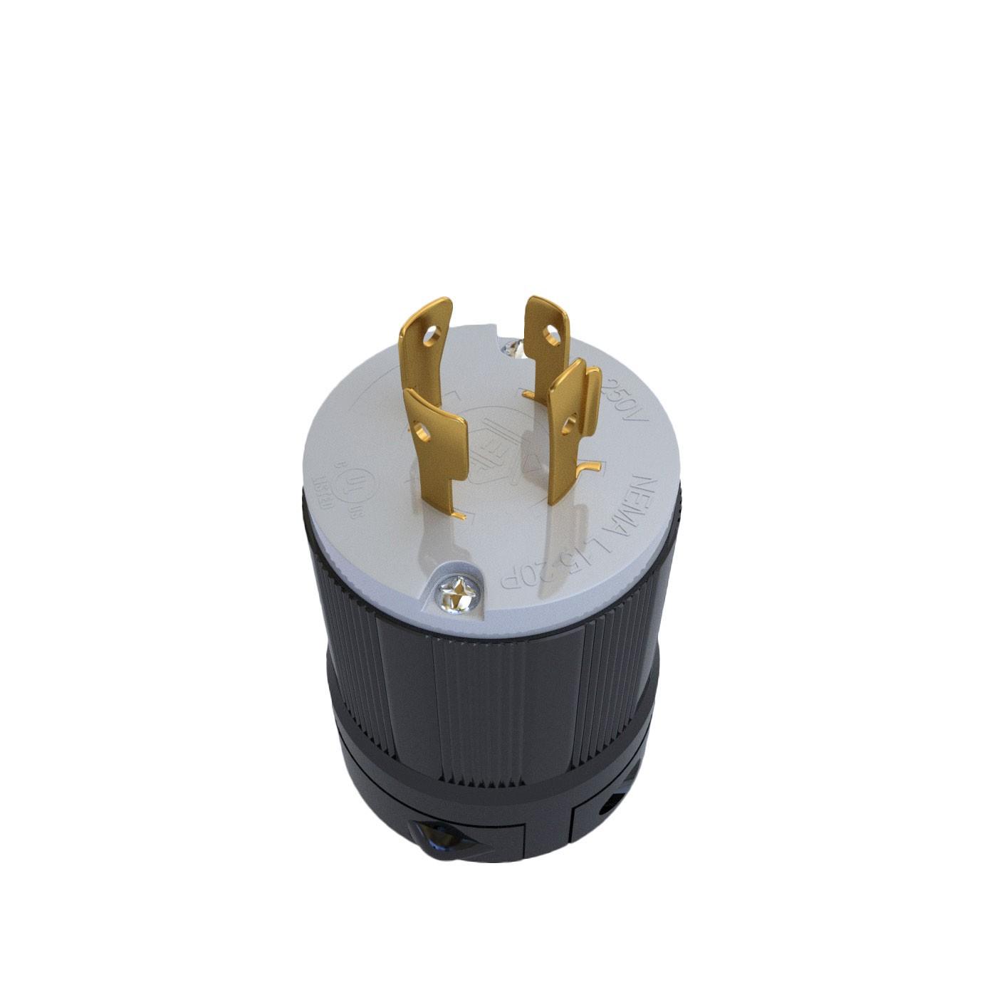 Plugue Nema L15-20P - 20A - 250V 3P+T