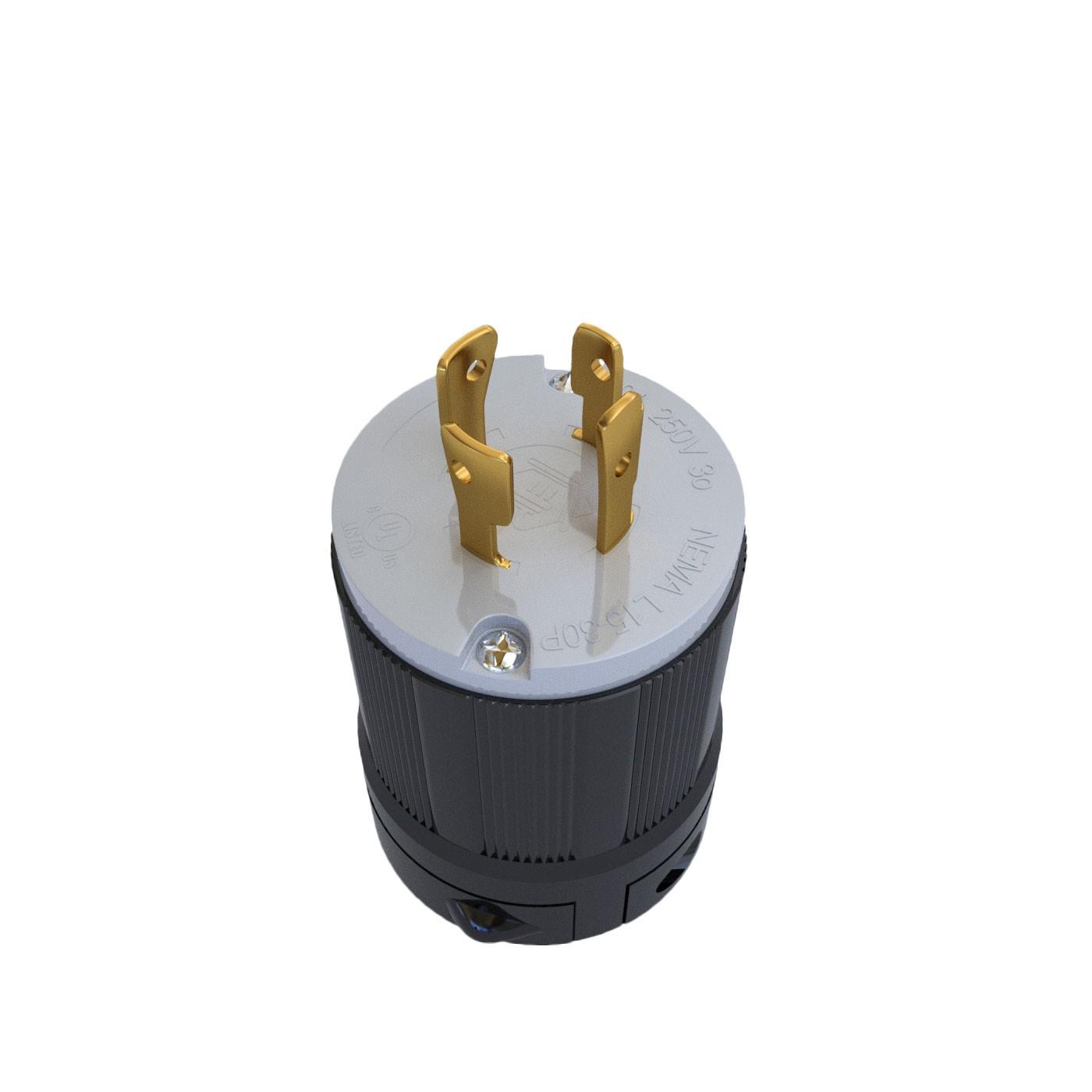 Plugue Nema L15-30P - 30A - 250V 3P+T