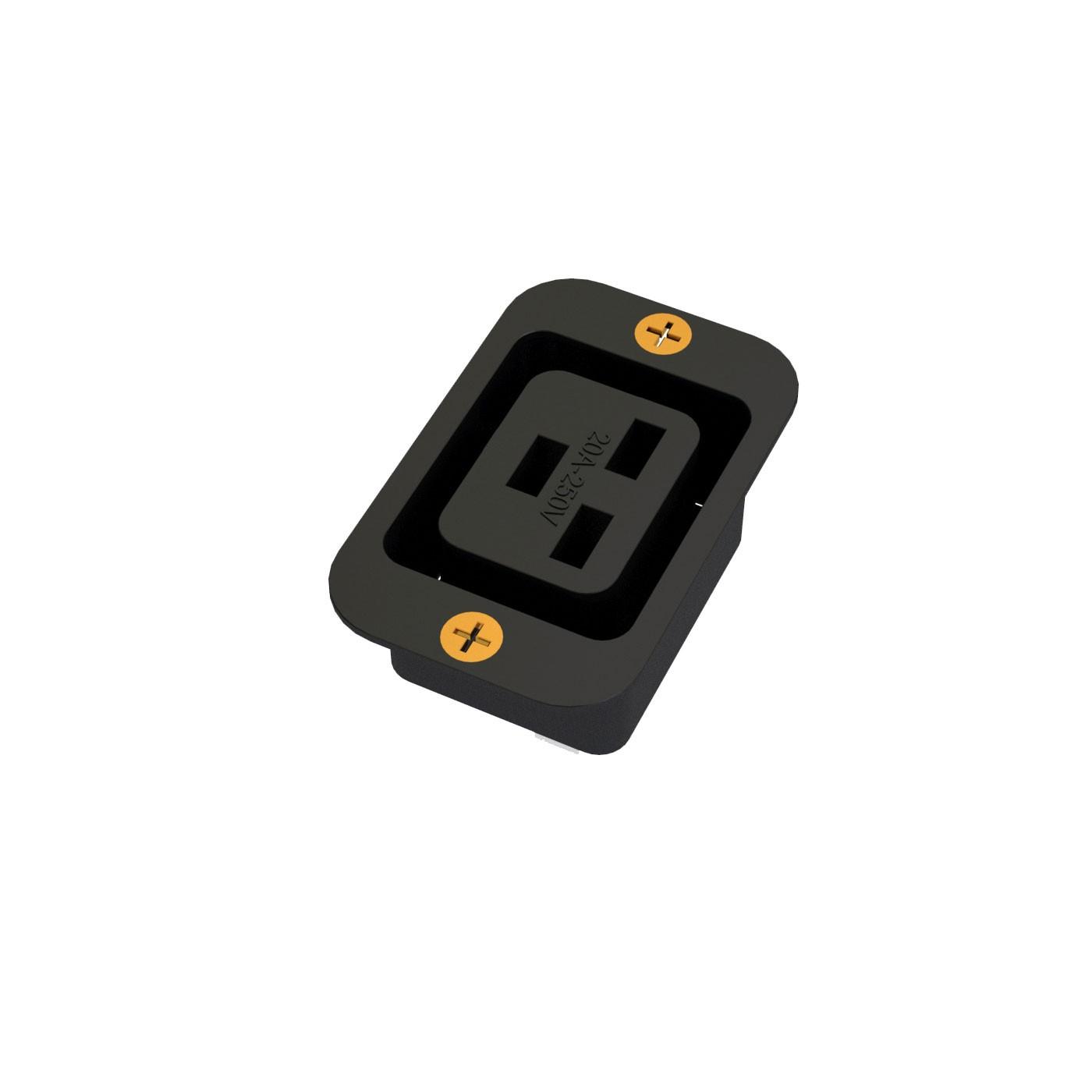 TOMADA IEC320 C19 PARA PAINEL - 20A - 250V 2P+T