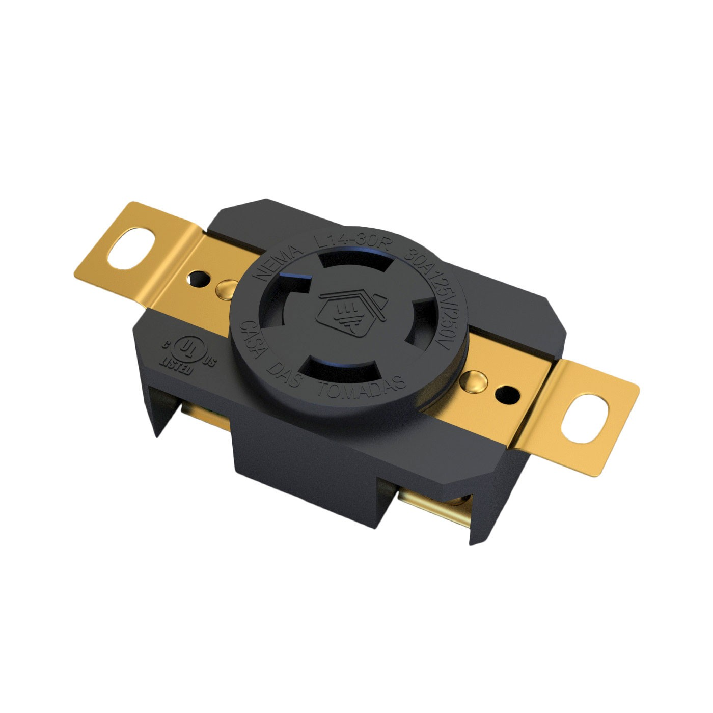 Tomada Nema L14-30R - 30A - 125/250V 3P+T