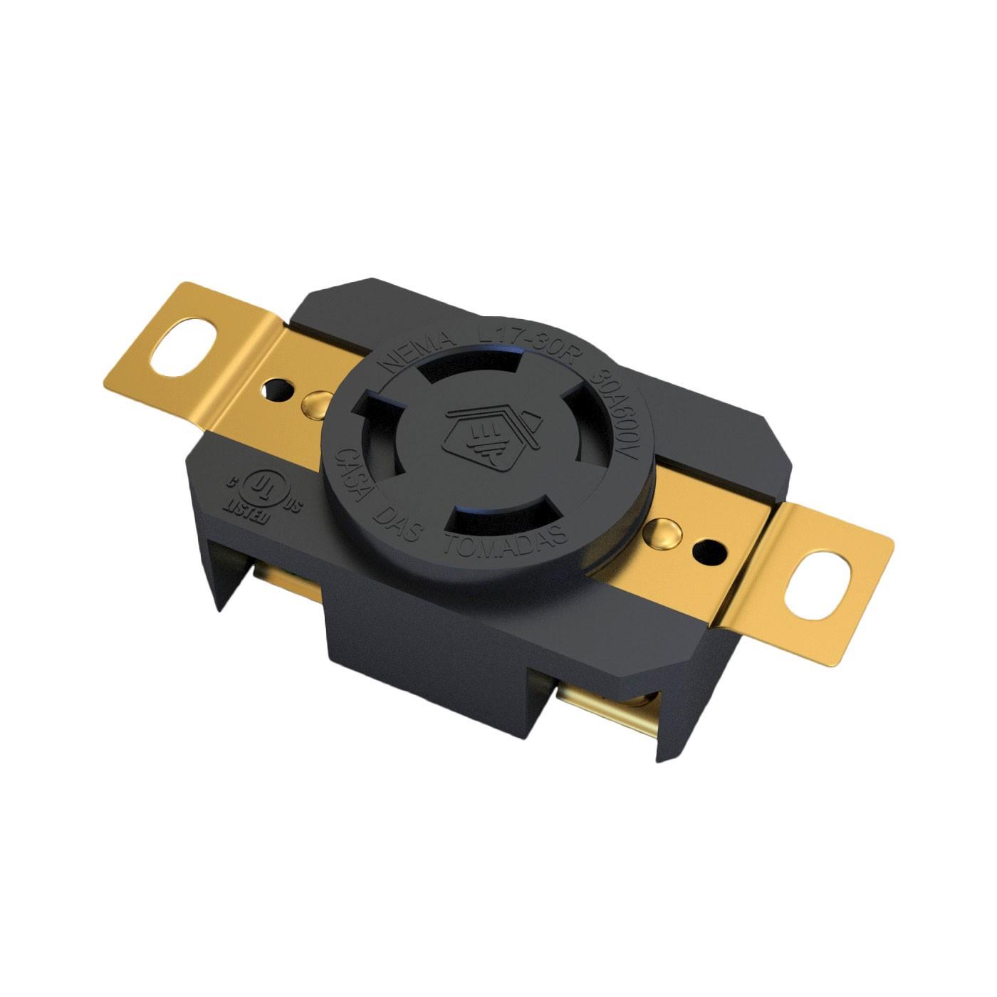 Tomada Nema L17-30R - 30A - 600V 3P+T