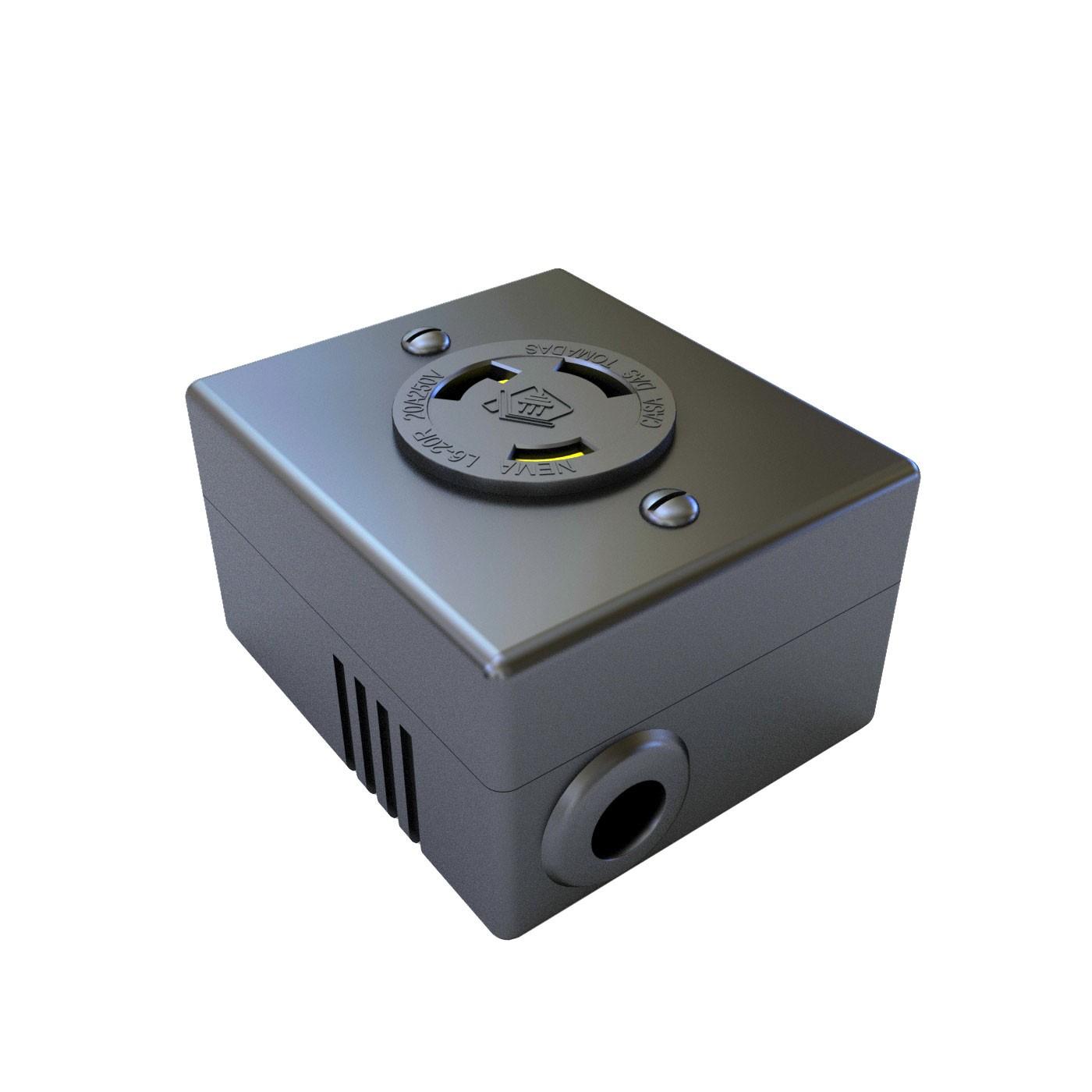 Tomada Nema L6-20R Isolada - 20A - 250V 2P+T