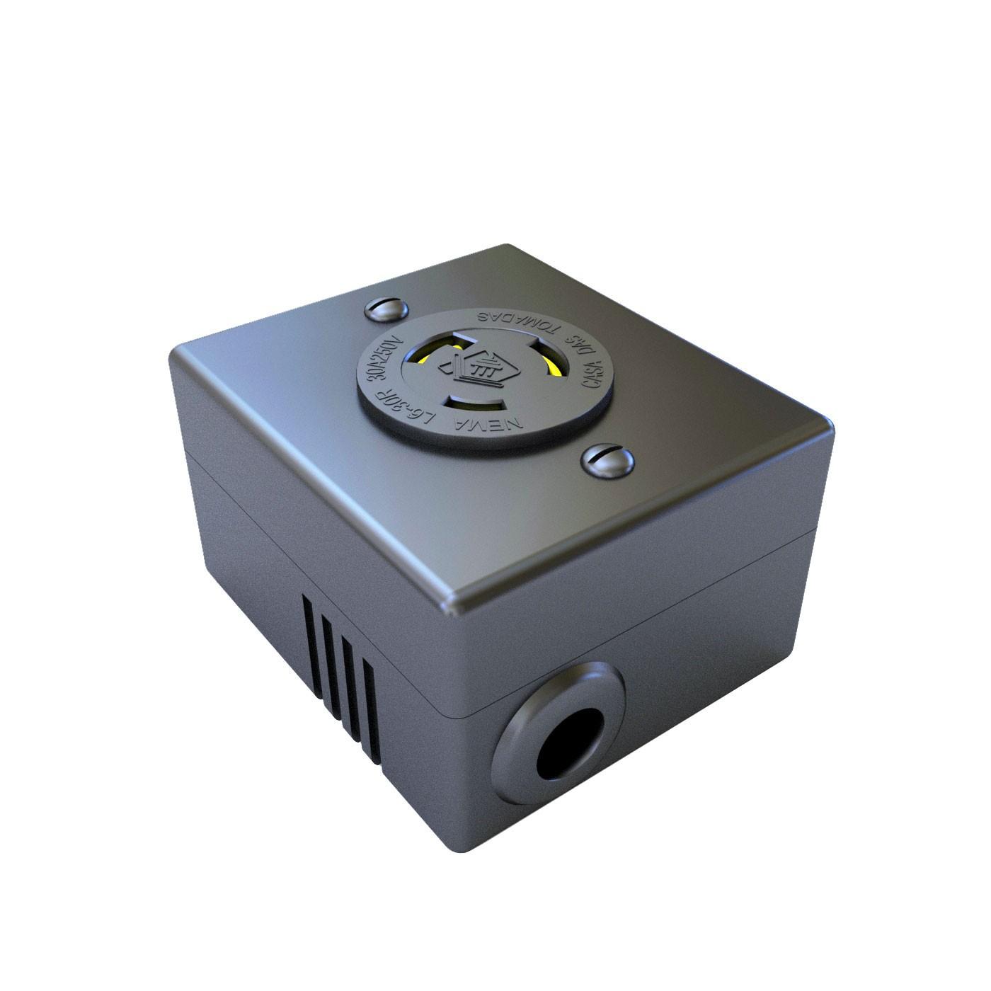 Tomada Nema L6-30R Isolada - 30A - 250V 2P+T