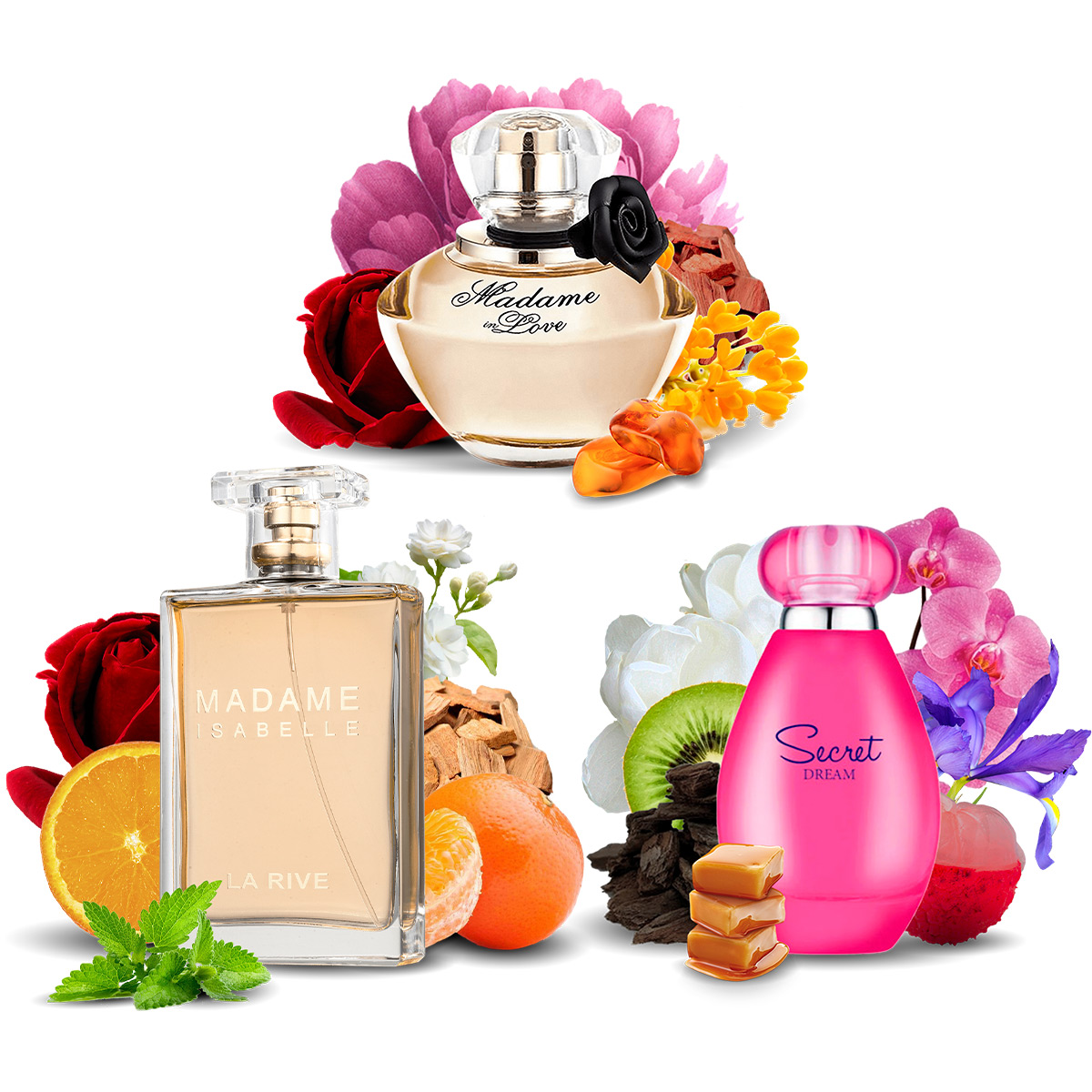 Kit 10 Perfumes Importados La Rive Atacado Mais Vendidos