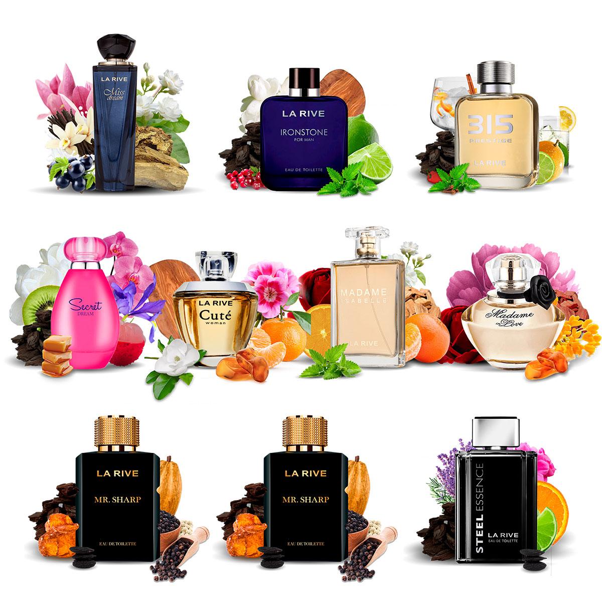 Kit 10 Perfumes Importados La Rive Masculino e Feminino