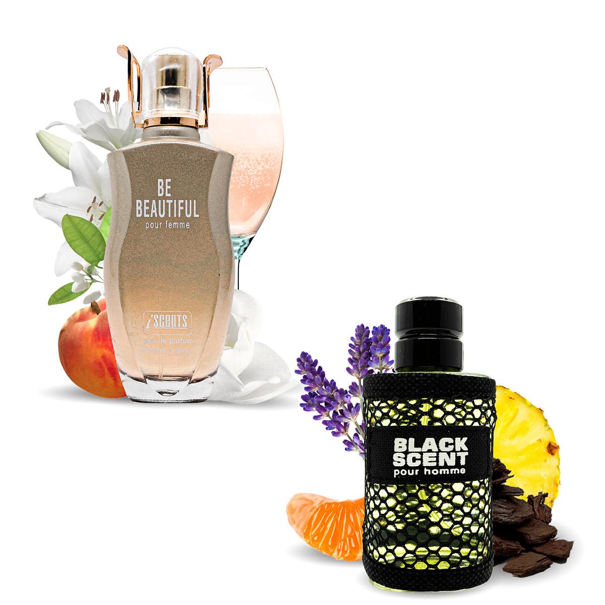 Kit 2 Perfumes Be Beautiful e Black Scent I Scents