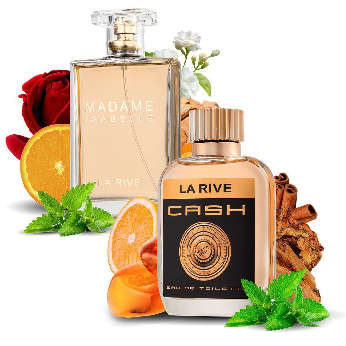 Kit 2 Perfumes, Cash Man e Madame Isabelle La Rive