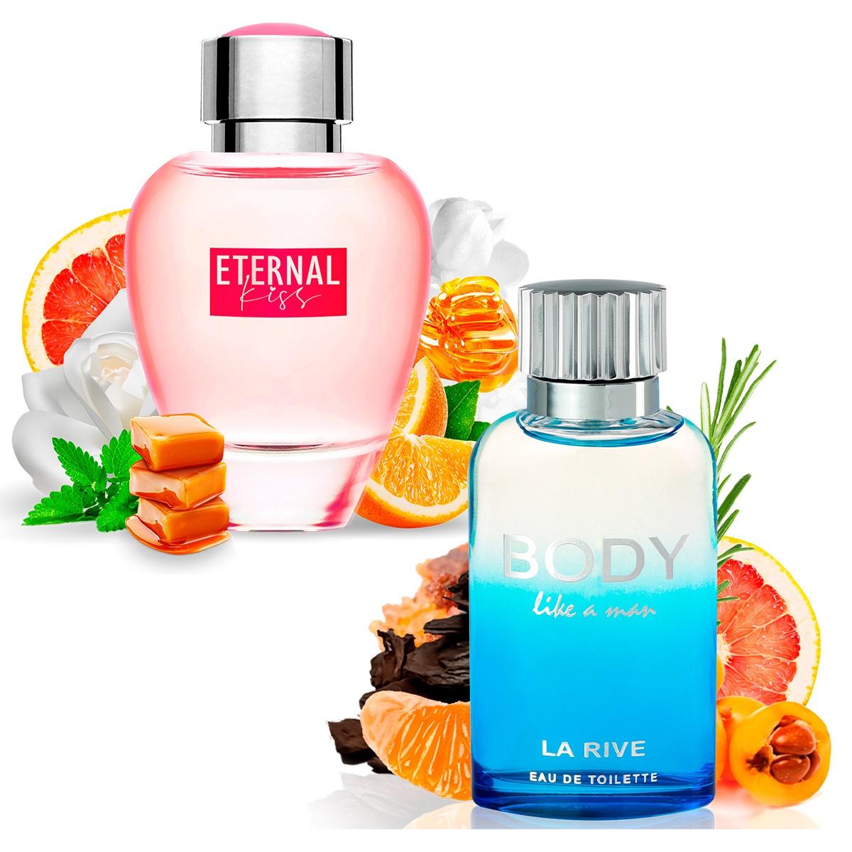 Kit 2 Perfumes, Eternal Kiss e Body Like a Man La Rive