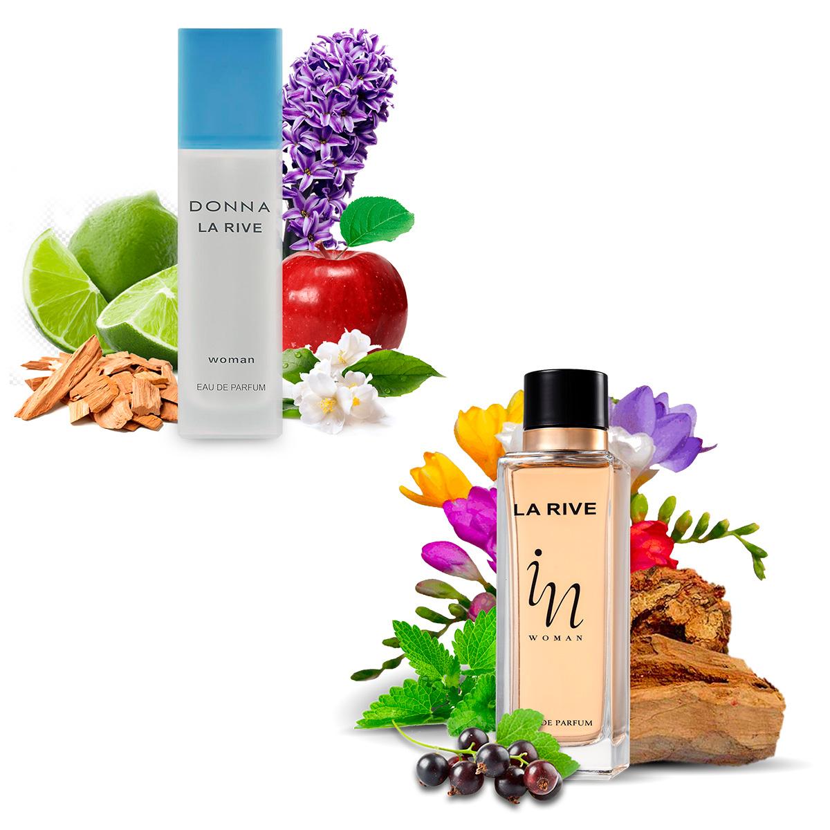 Kit 2  Perfumes Femininos Donna La Rive 90ml + In Woman 90ml