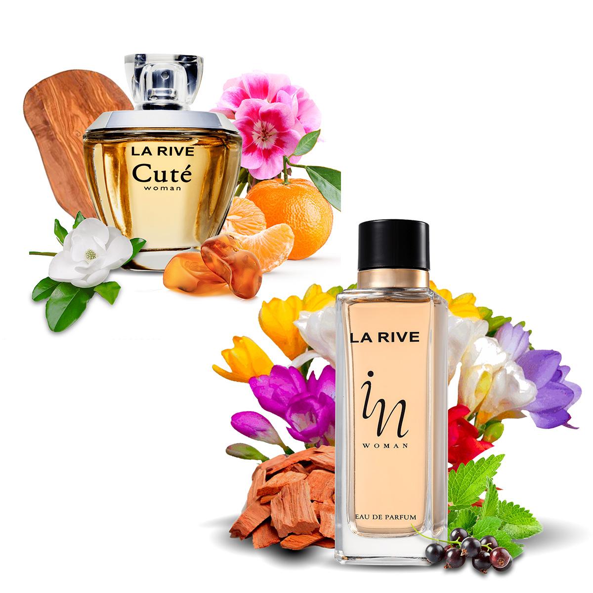 Kit 2  Perfumes Femininos La Rive Cuté 100Ml + In Woman 90ml
