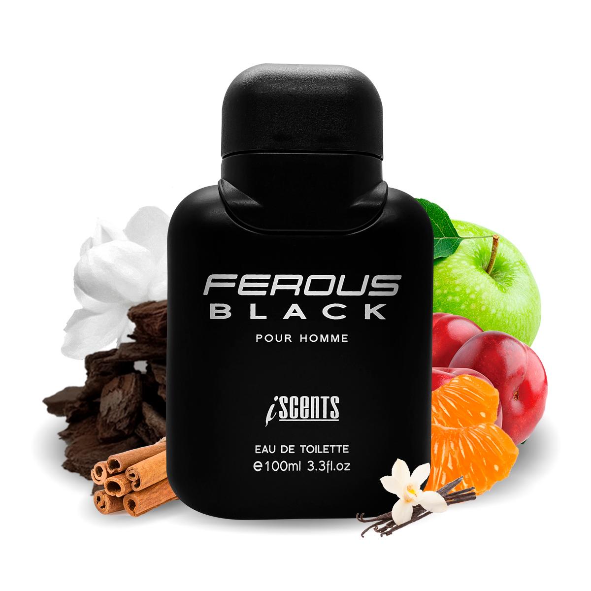 Kit 2 Perfumes Ferous Black e Black Scent I Scents