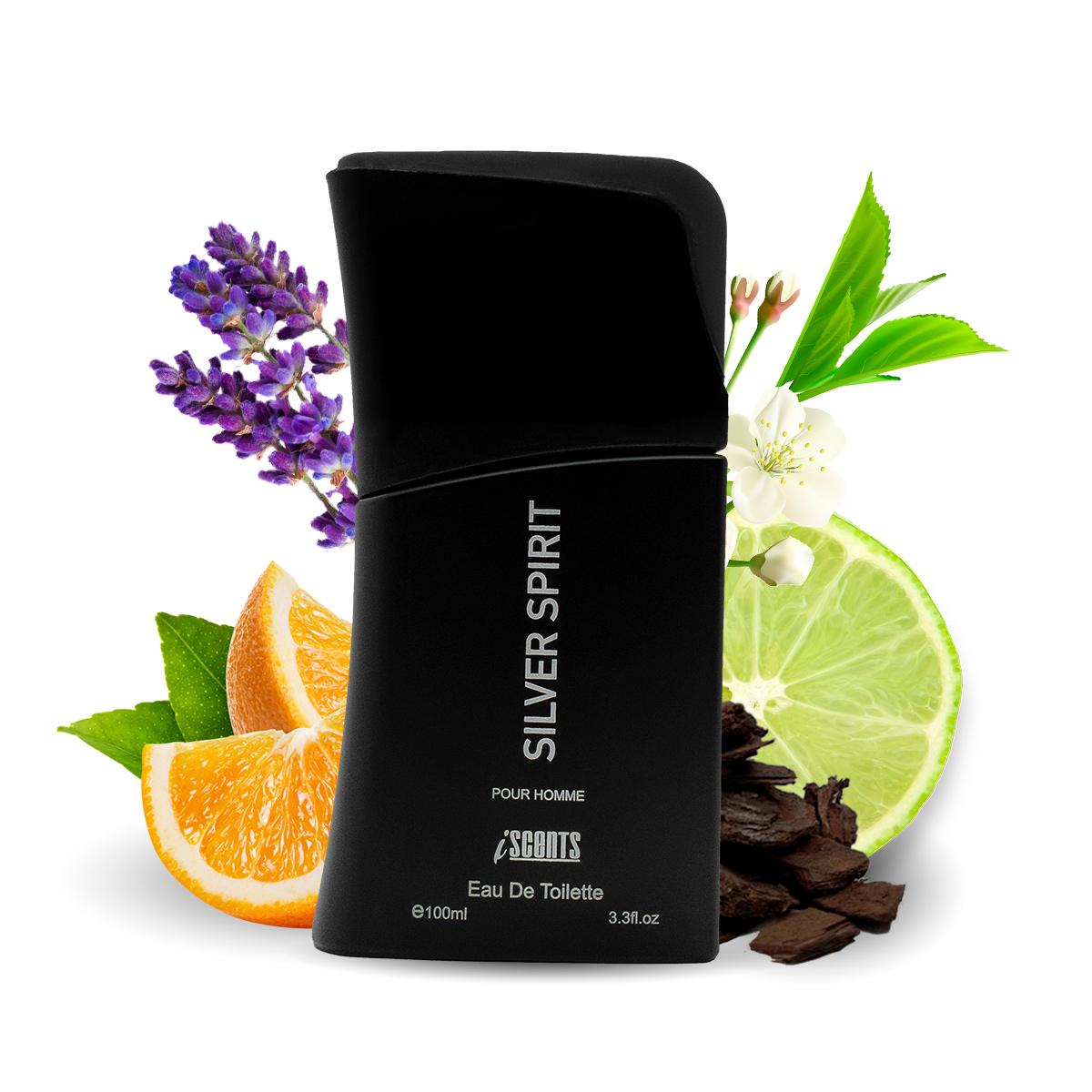 Kit 2 Perfumes Ferous Black e Silver Spirit I Scents