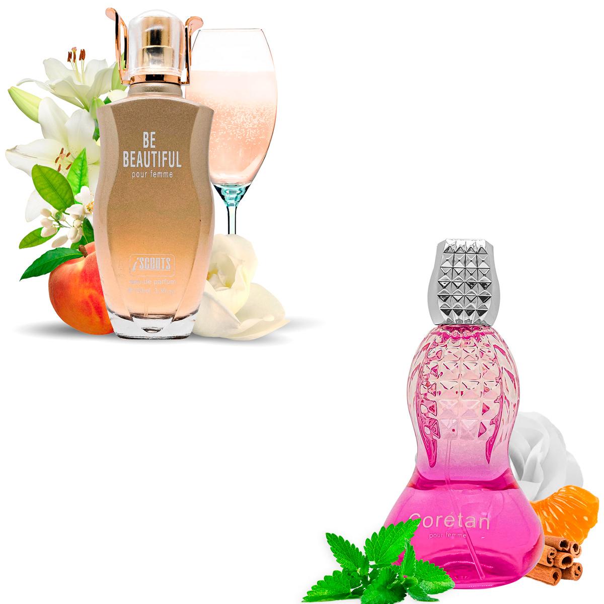Kit 2 Perfumes Importados Be Beautiful e Coretan I Scents