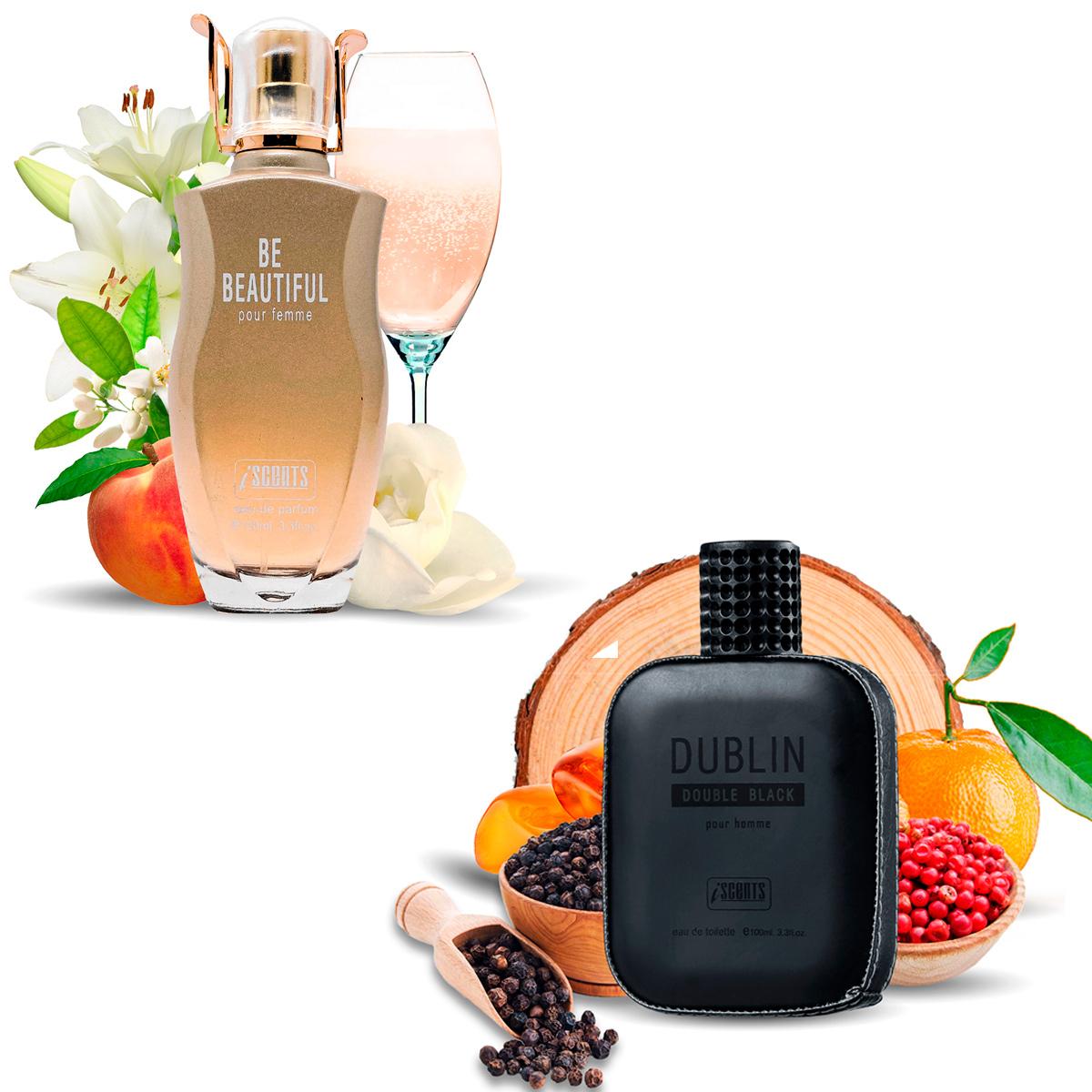 Kit 2 Perfumes Importados Be Beautiful e Dublin I Scents