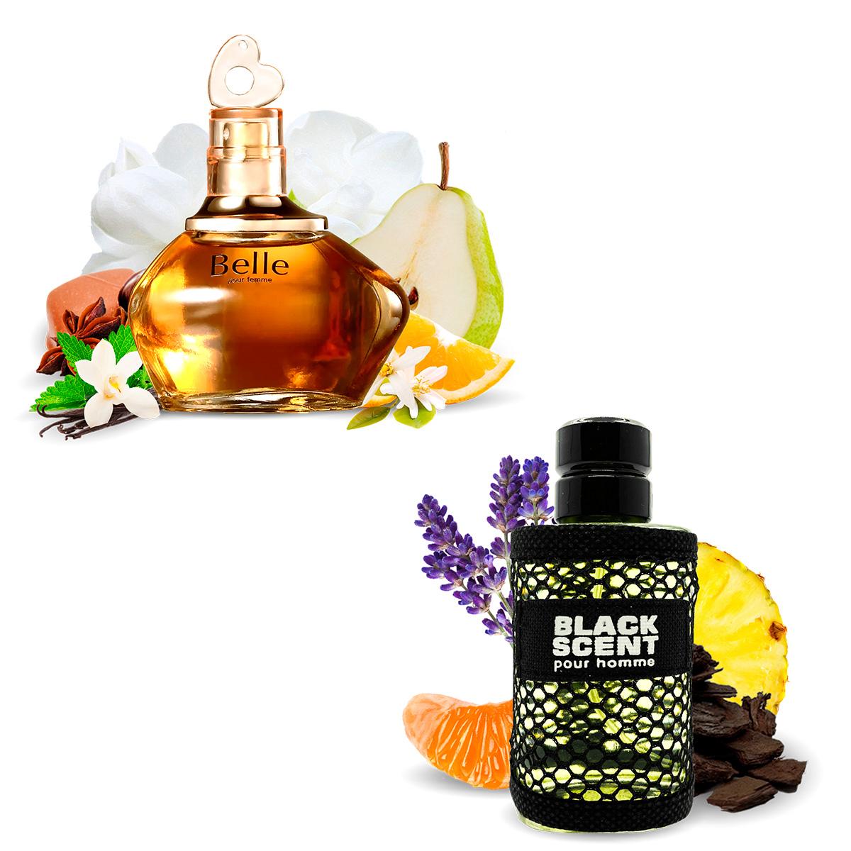 Kit 2 Perfumes Importados Belle e Black Scent I Scents