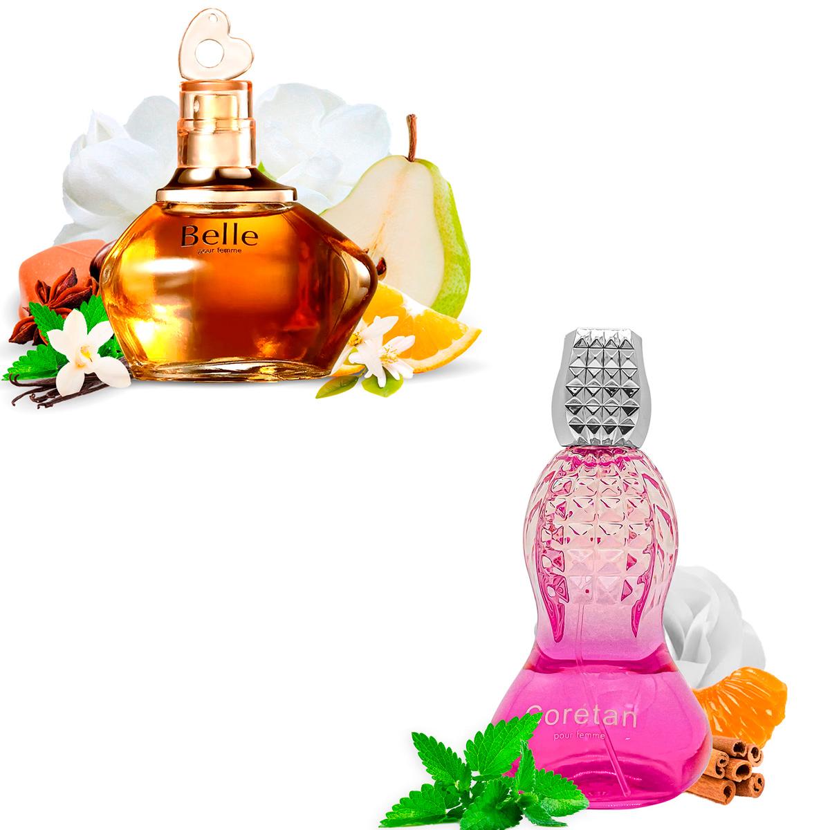 Kit 2 Perfumes Importados Belle e Coretan I Scents