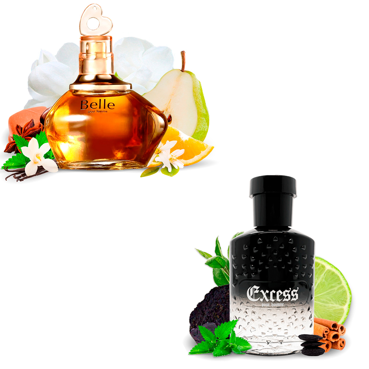 Kit 2 Perfumes Importados Belle e Excess I Scents