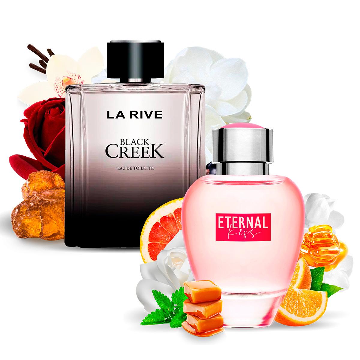 Kit 2 Perfumes Importados Black Creek e Eternal Kiss La Rive