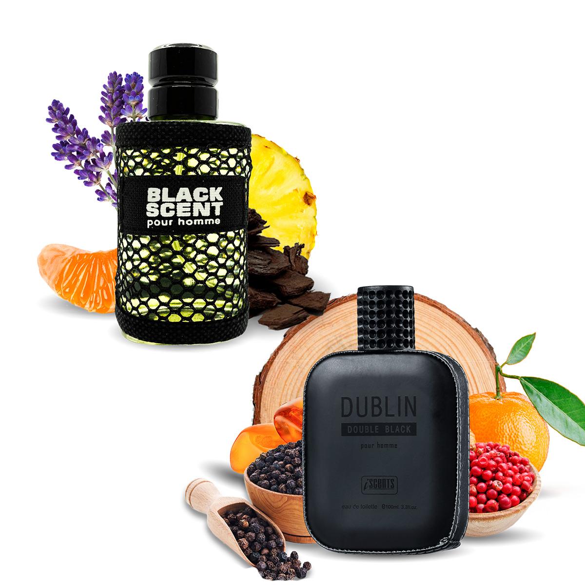 Kit 2 Perfumes Importados Black Scent e Dublin I Scents